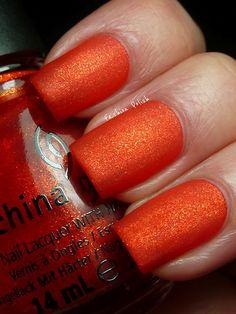 Nails Orange Glitter China Glaze 36 Ideas For 2019 Red Orange Nails, Orange Glitter, Red Nails, Glitter Nails, Hair And Nails, China Glaze Nail Polish, Nail Designs Spring, Gorgeous Nails, Amazing Nails