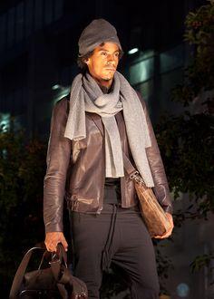 #m0851 | Leather Jacket, Scarves, Leather Bags, Hat | Fashionshow | Festival mode et design de Montréal, summer 2012 www.m0851.com/home/