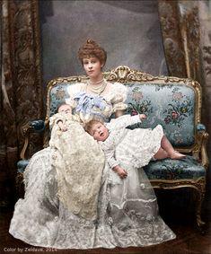 Consuela Vanderbilt and her two children