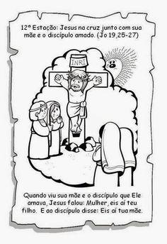 Jardim da Boa Nova: Via Sacra Comics, How To Make, History Of Easter, Bible Stories For Children, Sunday School Kids, Kids Bible Activities, Catechism, Biblia, Sunday School