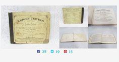 #BrightJewels #SundaySchool #Song #Book #Antique #Hymnal  #Bradbury #gotvintage http://www.etagerellc.com/store/p340/Bright_Jewels_Sunday_School_Song_Book_|_Antique_1869_Hymnal__William_B._Bradbury_.html