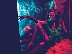 Red Lights, Blue Angels  There's nothing like fur, latex, and lace to bring your most decadent fantasies to life. Handcuffs optional.    Photographs by Mert Alas & Marcus Piggott  Styled by Edward Enninful  September 2011
