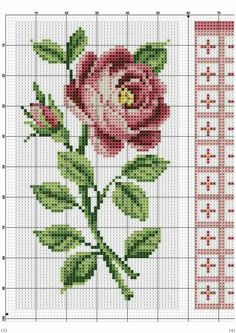 This Pin was discovered by Neb Learn Embroidery, Hand Embroidery Stitches, Cross Stitch Embroidery, Cross Stitch Rose, Cross Stitch Flowers, Counted Cross Stitch Patterns, Cross Stitch Charts, Cross Stitch Collection, Sewing Techniques