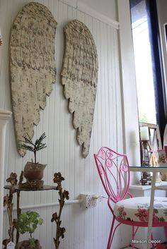 Angel wings, Wooden Angel Wings, French Angel Wings | Maison Decor