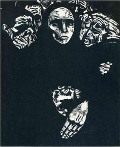 Käthe Kollwitz, The People, woodcut, 1922.