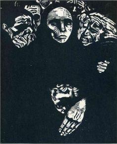 Kathe Kollwitz The People Woodcut 1922