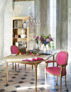 Beautiful Dining Rooms * French  #Home #DiningRoom ༺༺  ❤ ℭƘ ༻༻