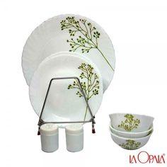 La opala New 20 Pcs Dinner Set, Blissful Greens