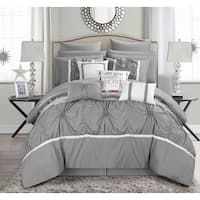 Chic Home 16-Piece Legaspi Grey Bed in a Bag Comforter Set Queen Size Comforter Sets, Grey Comforter Sets, Grey Bedding, Bedding Sets, Luxury Bedding, Elegant Comforter Sets, Queen Bedding, Flat Sheets, Bed Sheets