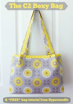 The Hyper Hub: C2 Boxy Bag - FREE Tutorial Includes a helpful bit about using rivets for straps