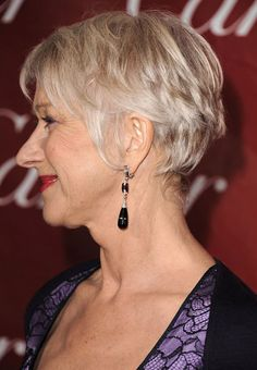 Helen Mirren, rockin the short cut. Just as she rocks every other single thing in the universe.