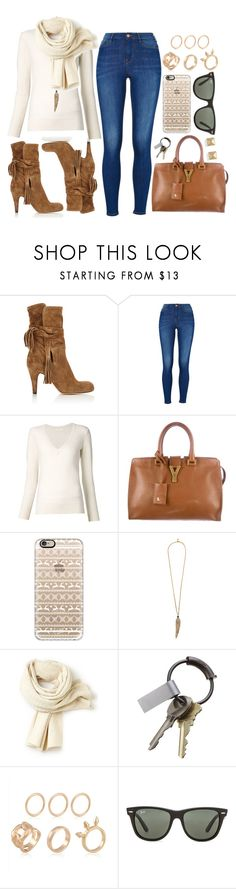 """""""Untitled #3256"""" by natalyasidunova ❤ liked on Polyvore featuring moda, Chloé, Yves Saint Laurent, Casetify, Roberto Cavalli, Lacoste, CB2, Ray-Ban e Palm Beach Jewelry"""