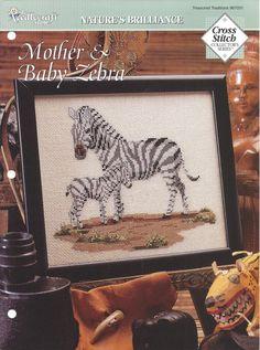 Cross Stitch Pattern Mother & Baby Zebra by KnitKnacksCreations