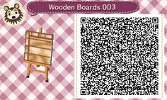Animal Crossing: New Leaf & HHD QR Code PathsWooden Boards Path #3<---