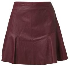 Kookai Mini skirt (110 AUD) ❤ liked on Polyvore featuring skirts, mini skirts, saias, bottoms, red, red leather skirt, print skirt, short red skirt, red petticoat skirt and short mini skirts