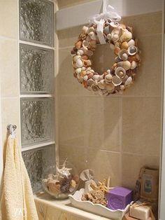 Bathroom Decorating Ideas+Seashells seashells   decor ideas   home design ideas   diy   interior