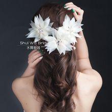 3 unids nueva moda de la novia tiara de la boda, cristal corazón hecho girar del hilado de seda de flores cerradas(China (Mainland))