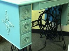 I am quite possibly in love with this sewing table.