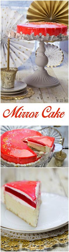 This Mirror Birthday Cake is all about that GLAZE!! Here's a great place to start to make your own mirror cake with all of my tips on what to do at home.   My Mirror Birthday Cake I celebrated another