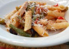Italian Stir-Fry Chicken Over Pasta