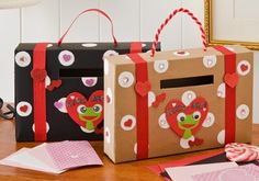 Cereal Box Valentine Holder  Instructions NOTE: We did this in preschool, the kids loved making them their own :) we cut the hole ontop and made it much bigger to fit all the valentines