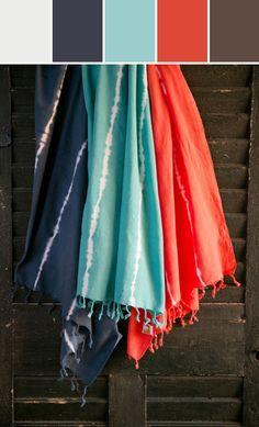Tie Died Fouta Towel  Designed By Burke Decor via Stylyze