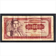 1963 Jugoslavia 100 Dinara used banknote on eBid United Kingdom