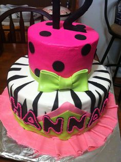 girly cake cake
