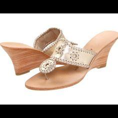 cb3c5234b67 Nwot Jack Rogers Navajo Hamptons Hi Wedge Sandals Outdoor Wedding Shoes