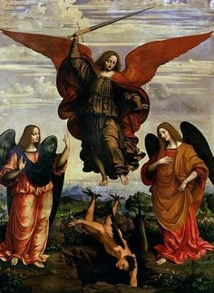 The Archangels Triumphing Over Lucifer