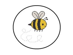 Baby Bumble Bee Cross Stitch Pattern, PDF Chart, Instant Download, Nursery Decor