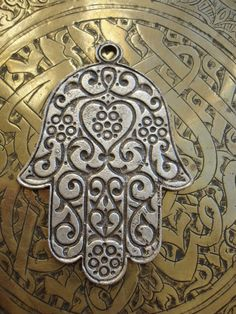 Moroccan hand of Fatima hamsa khamsa charm by HilarysBazaar