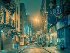 Belas, fotografias de sonho da  Chinatown  em Nova York  O fotógrafo francês Franck Bohbot, que já fez fotografias opulentas de salas de cinema da Califórnia e  imagens raras dos magníficos quartos do museu Louvre deserto, tem uma nova série que captura a beleza sonhadora da Chinatown em Nova York .