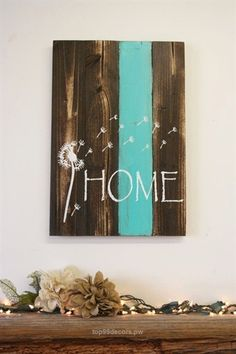 Marvelous nice Home Pallet Sign Dandelion Sign Rustic Home Decor Country Home Decor Shabby Chic Decor Teal Decor Housewarming Gift Wedding Gift Wall Decor by www.best99-home-d…  The post  nice Home Pallet Sign Dandelion Sign Rustic Home Decor Country Home Decor Shabby…  appe ..