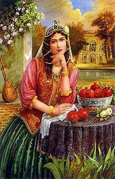 Iran Politics Club: Hojatollah Shakiba - Part Persian Colonial Miniatures… Ancient Persian, Art Asiatique, Persian Culture, Iranian Art, Portraits, Female Art, Les Oeuvres, Art Pieces, Art Gallery