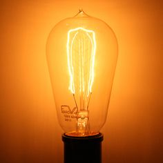 Ferrowatt 012845 F1900 40W 120V FW Edison Style Antique Light Bulb at eLightBulbs.com