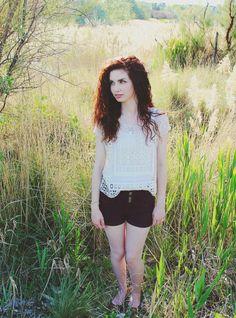 """Curls & Some Conrad."" #blog #blogger #styleblog #beautyblog #clothes #fashion #style #feminine #spring #summer #curlyhair #curls #hair #auburnhair #color #laurenconrad #lc #cottonon #crochet #photography DarlingOnADollar.com"