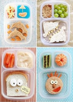 Cute & Creative Snacks for Kids. Trying to make eating healthy fun Toddler Meals, Kids Meals, Kreative Snacks, Boite A Lunch, Back To School Organization, Lunch Snacks, Kid Lunches, Kid Snacks, School Lunches