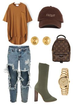 """""""Untitled #130"""" by styledbytine on Polyvore featuring YEEZY Season 2, Louis Vuitton, One Teaspoon, Chanel and Gucci"""