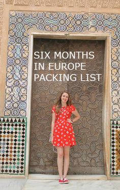How I packed for 6 months studying abroad in Europe
