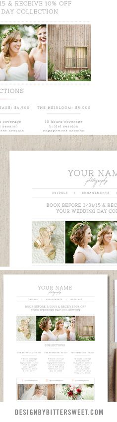 Guide Templates Wedding Photography Price List  Pricing Guide Template  Photo .