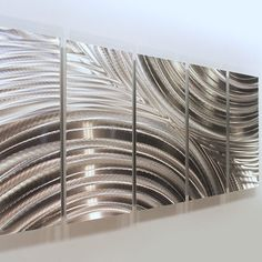 Modern Silver Huge Abstract Metal Wall Art Sculpture Home Decor Jon Allen #Statements2000