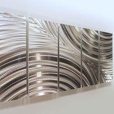 Modern Silver Huge Abstract Metal Wall Art Sculpture Home Decor Jon Allen #Statements2000