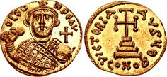 Leontius. 695-698. AV Solidus (20mm, 4.41 g, 12h). Constantinople mint, 9th officina. My collection