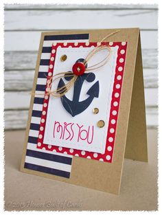Houses Built of Cards: Paper Smooches Nautical Card