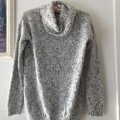   New   Black & white knit cowl neck sweater S Brand new knit cowl neck sweater size S. Perfect everyday sweater for winter season or chilly days. The black and white make it classic, and can be easily worn with leggings, jeans or skirts. BUNDLE & SAVE 25% ❌ TRADES ❌ Sweaters Cowl & Turtlenecks
