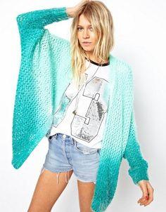 Otoño 2015 European Brand Crochet recorte del Color del gradiente más el tamaño Cardigan suéteres mujer otoño diseñador Sueters largo coloridas en Cardigans de Ropa y Accesorios de las mujeres en AliExpress.com | Alibaba Group