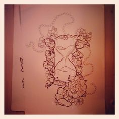 hourglass#time#life#roses#flowers#ornamental#freehand#art#drawing#creative