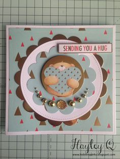 Hidden Quirks: Docrafts | Forever Friends Classic Decadence Collection Crafty Projects, Projects To Try, Forever Friends Cards, Sending You A Hug, Gold Color Scheme, Create And Craft, I Card, Birthday Cards, Card Making