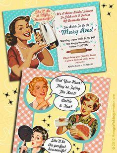 Vintage Bridal Shower Invitations! Fun! 1950s Vintage Bridal Shower Invitations and more!
